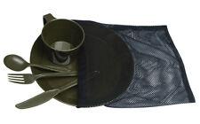 Mil-Tec Camp-Set Teller Tasse Besteck Oliv Essgeschirr Campinggeschirr Geschirr