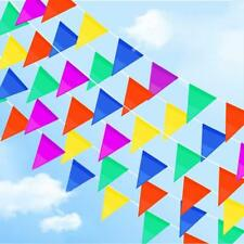 Birthday Party Flag Banner Kids Decoration 50M Multicolor Nylon Pennant Banners