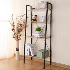 Black Ladder Shelving Unit Wooden Ladder 4-Tier Bookshelf - Moustache®