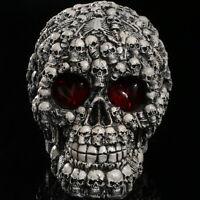 LED Light Demon Skull Ghost Evil Skeleton Head Resin Figure Statue Collectible