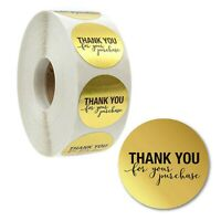 """Thank You"" Envelope Label Kraft Paper Craft Packaging Bag Seals Stickers 500Pcs"