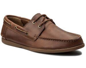 Clarks Boat Shoes Morgen Sail Tan Size 8.5 G RRP £75