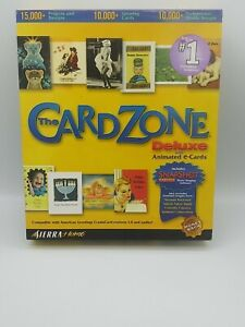 Vintage NOS - The Card Zone Deluxe w/ Animated E-Cards By Sierra Home