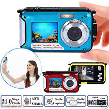 Double Screen Waterproof Camera DV 1080P HD Action Sports Video Camcorder Dive
