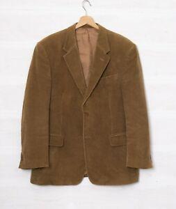 Gurteen Men's 42R Brown Pure Cotton Corduroy Classic Blazer Jacket