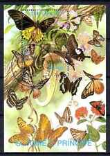 Papillons Saint Thomas et prince (22) bloc oblitéré