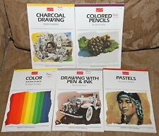 Lot of 5 Walter Foster Art Books PASTELS Drawing COLOR Charcoal COLORED PENCILS