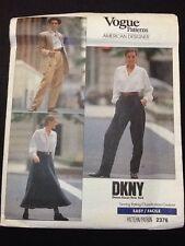 Vogue Designer Pattern # 2376 DKNY Donna Karan Size 6-8-10 Uncut From 1989