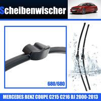 Escobillas Limpiaparabrisas Para Mercedes S C215 C216 680/680mm Wiper 2000-13