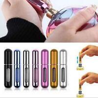 Mini Portable Refillable Perfume Atomizer Travel Empty Spray Bottle Metal 5ml I~