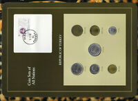 Coin Sets of All Nations Turkey 1986-1989 UNC 25 Lira 1986 1,5,10 Lira 1987
