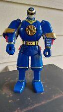 "Vintage SHOGUN NINJA MEGAZORD Bandai POWER RANGERS 1995 Flip Head 11"" BLUE"