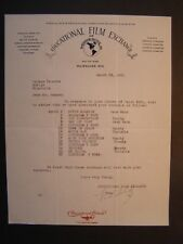 Movie Letterhead Educational Film Exchange MN 3/30/21 Movie Madness Hank Mann