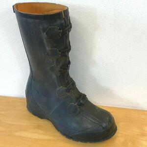 Vtg Military Heavy Rubber Boots Mens size 9 Xclusive Shoe Co DLA100-89-C-4210 D2