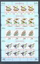 MOLDOVA 2010 SHEETS BIRDS  MNH