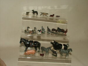 BRITAINS & UNBRANDED VINTAGE PAINTED LEAD FARM ANIMALS COW SHEEP DUCKS GEESE ETC