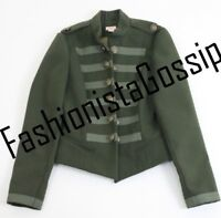 Storm By Monsoon Girls Green Military Coat Jacket Tops AGE 11-12 YEARS rrp £85