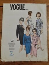 VINTAGE VOGUE LADIES TWO PIECE DRESS PATTERN 1601 SIZE 14 FREE SHIPPING