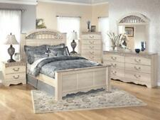 HUNTER   5pcs Traditional Cottage White Queen King Panel Bedroom Set  Furniture