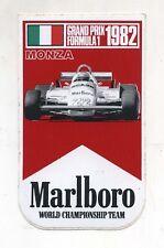 Adesivo GRAND PRIX Formula 1 1982 MONZA Italia MARLBORO TEAM F1 sticker