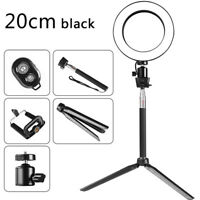 8INCH 64 LED Photography Dimmable Selfie Ring Light Video 3200-5500k Studio Kits