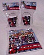 Avengers Party Snack Pails Boxes Captain America Ironman Hulk Lot Birthday Treat