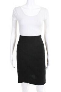 Theory Women's Zip Up Knee Length Pencil Skirt Black Size 4