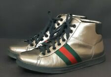GUCCI Gold Metallic Leather Boots Sneakers 225662 size 36 G US 5,5