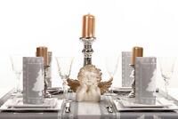 1 Tischläufer White Tree in Silber aus Linclass® Airlaid 40cm x 4,80m - Xmas