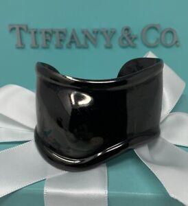 Tiffany&Co Peretti Black Bone Cuff Bracelet w/ Box Elsa made for Right Wrist