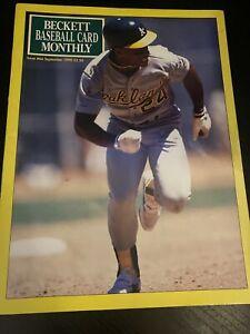 September 1990 #66 Beckett Baseball Price Guide Ricky Henderson