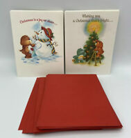 VTG Care Bears Christmas Cards Unused with Envelopes American Greetings 1983
