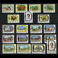 Dominique 1969-72 Set de 19 valeurs. SG 272-290. neuf sans charnière. (CA61K)