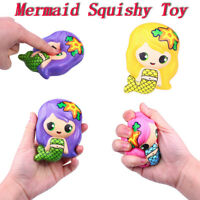 Kawaii Mermaid Scented Super Slow Rising Kids Stress Reliever Toy Squeeze Toy