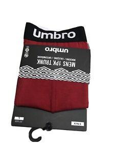 Men's NWT Umbro Stretch Premium Comfort Cotton Boxer Trunks 1 Pack Large A8
