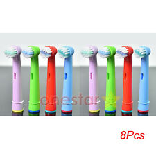 8x Kids Children Tooth Brush Head For Oral-B Vitality Precision Clean,Pro Health
