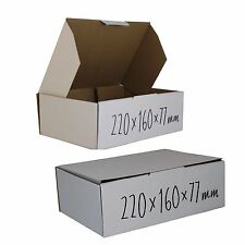 100 BX1 220x160x77mm Shipping Boxes mailing Carton Box White Fits in 3Kg Satchel