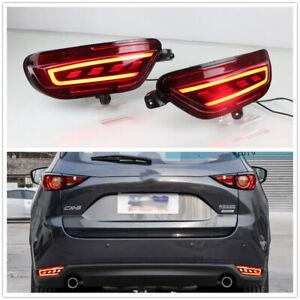 For 2017 2018 2019 MAZDA CX-5 CX5 LED Rear Fog Lamp Bumper LED Brake Light Red
