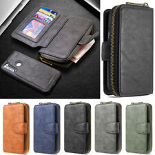 Zipper Wallet Leather Flip Case Cover For Xiaomi Redmi Note 9S Note 9 Note 8T 8A