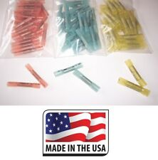 (100) 12-10 16-14 22-18 GA 3M HEAT SHRINK BUTT WIRE CRIMP CONNECTOR ELECTRICAL