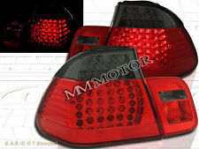 02 03 04 05 BMW E46 330 328 325 TAIL LIGHTS LED RED/SMOKE 4DR