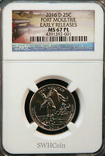 2016-D 25C Fort Moultrie NP - NGC MS67 PL (Proof-Like) Quarter - Early Releases