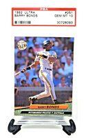 1992 Ultra Pirates HR King BARRY BONDS Baseball Card PSA 10 GEM MINT / Low Pop!