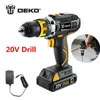 DEKO 20Volt Max DC Lithium-Ion Battery 1/2-Inch 2-Speed Electric Cordless Drill