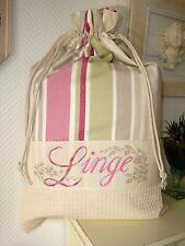 Sac à linge personnalisable brodé en toile à matelas + nid d'abeille laundry bag