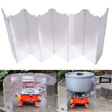8 Plate Foldable Stove Windshield Outdoor Camping Cooking Gas Stove Wind Shi WG