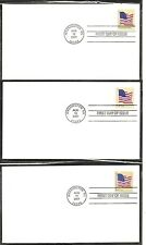 USA , Flag On A Pole 7 Differents FDC. 2007 Issue . Ready For Cachet.