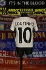 4.5/5 Liverpool boys 4-5 years 110cm #10 Coutinho football shirt jersey
