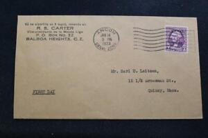 CANAL ZONE COVER 1933 1ST DAY ISS 3 CENT WASHINGTON CANAL ZONE OVERPRINT (3978)