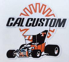 Vintage Cal Customs Speed Shop Decal--Old School--Rat Rod--Nostalgia--Man Cave